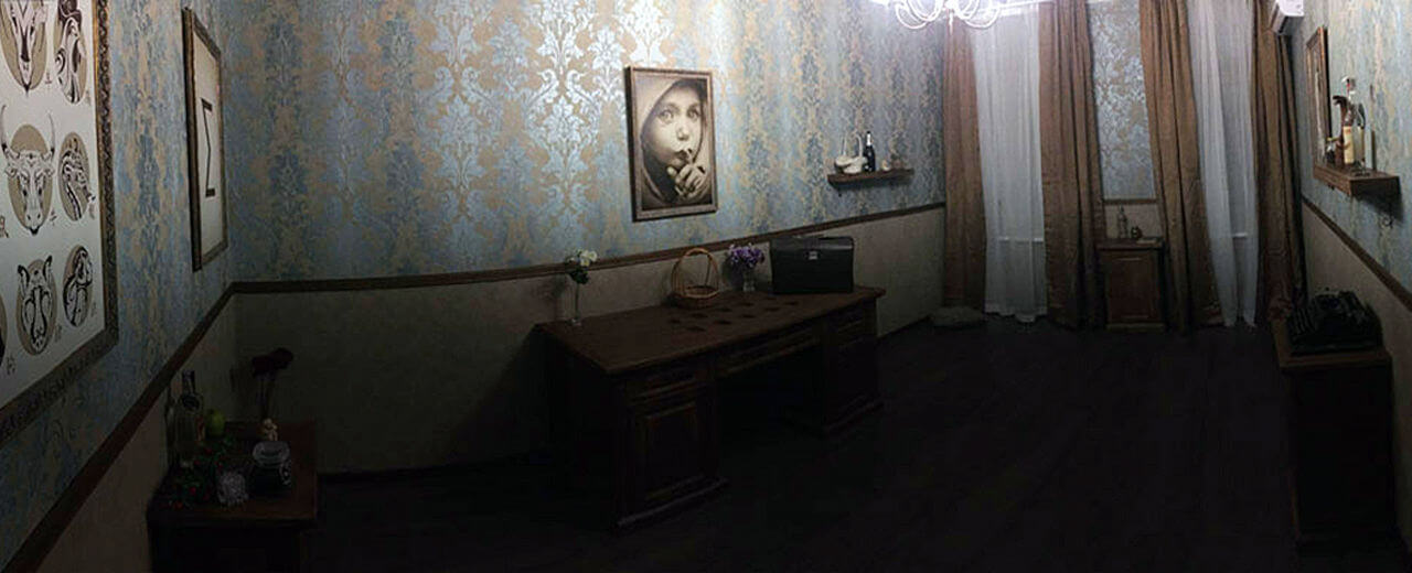 Картинка квест комнаты Последнее дело Пуаро в городе Киев