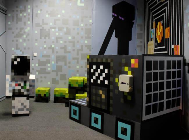 Картинка квест комнаты Minecraft: Космические приключения в городе Киев