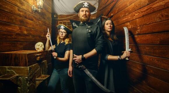 Картинка квест кімнати Пірати Карибського Моря в городе Львів